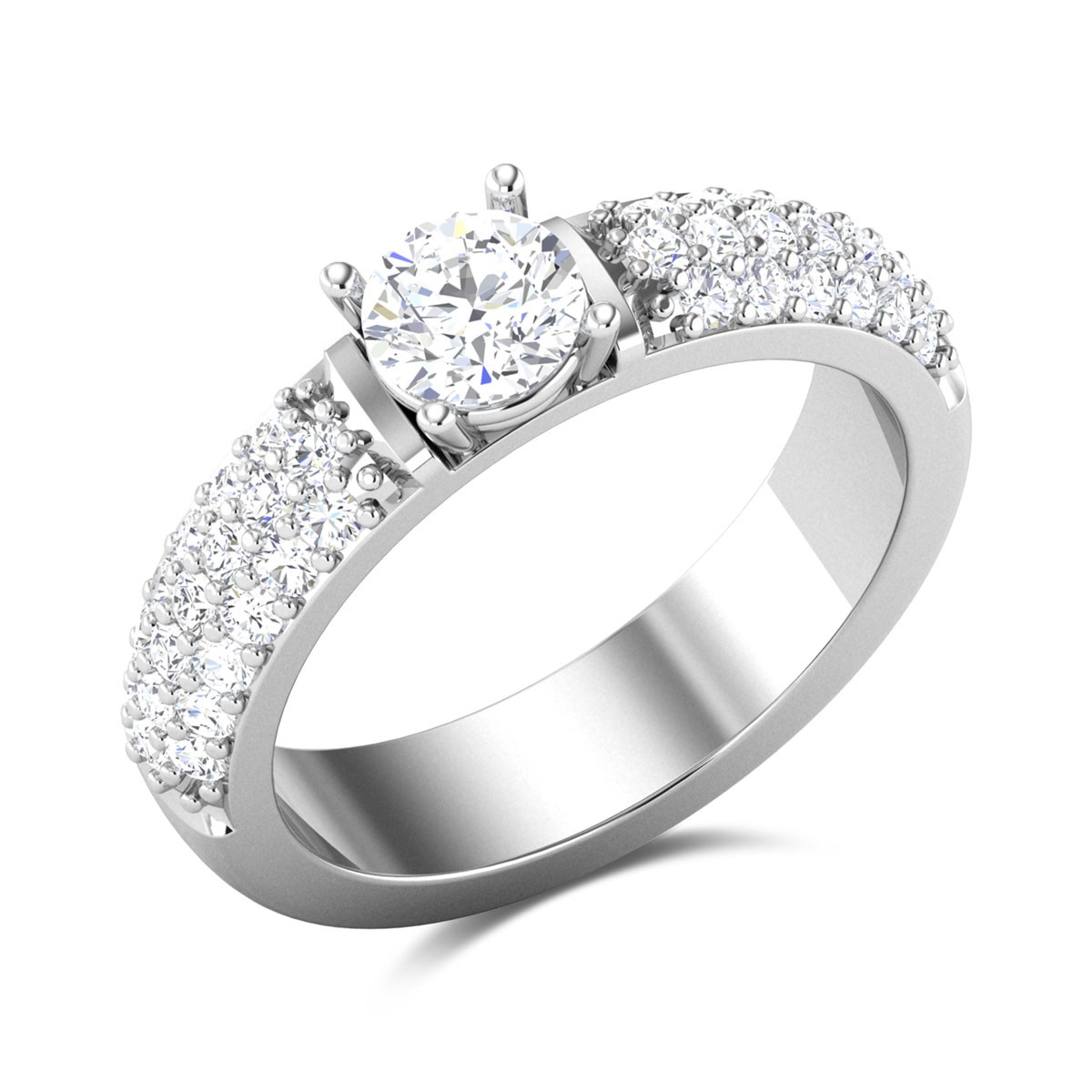 Intense Adora Band Solitaire Ring