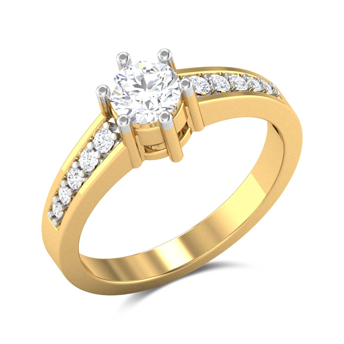Letty Diamond 6 Prong Solitaire Ring