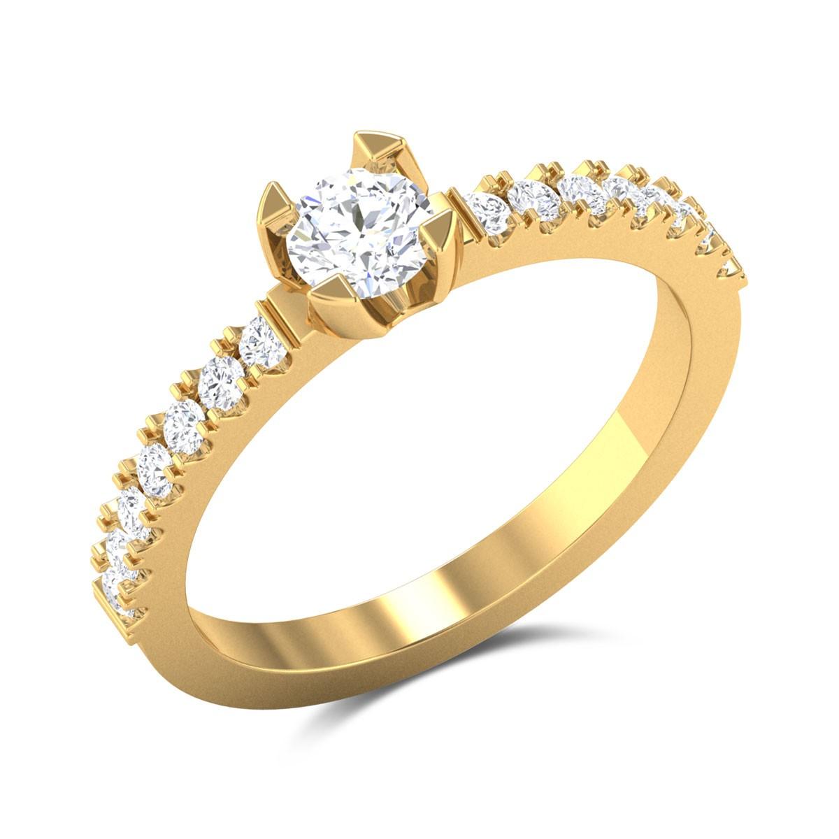Lauretta Diamond 4 Prong Solitaire Ring