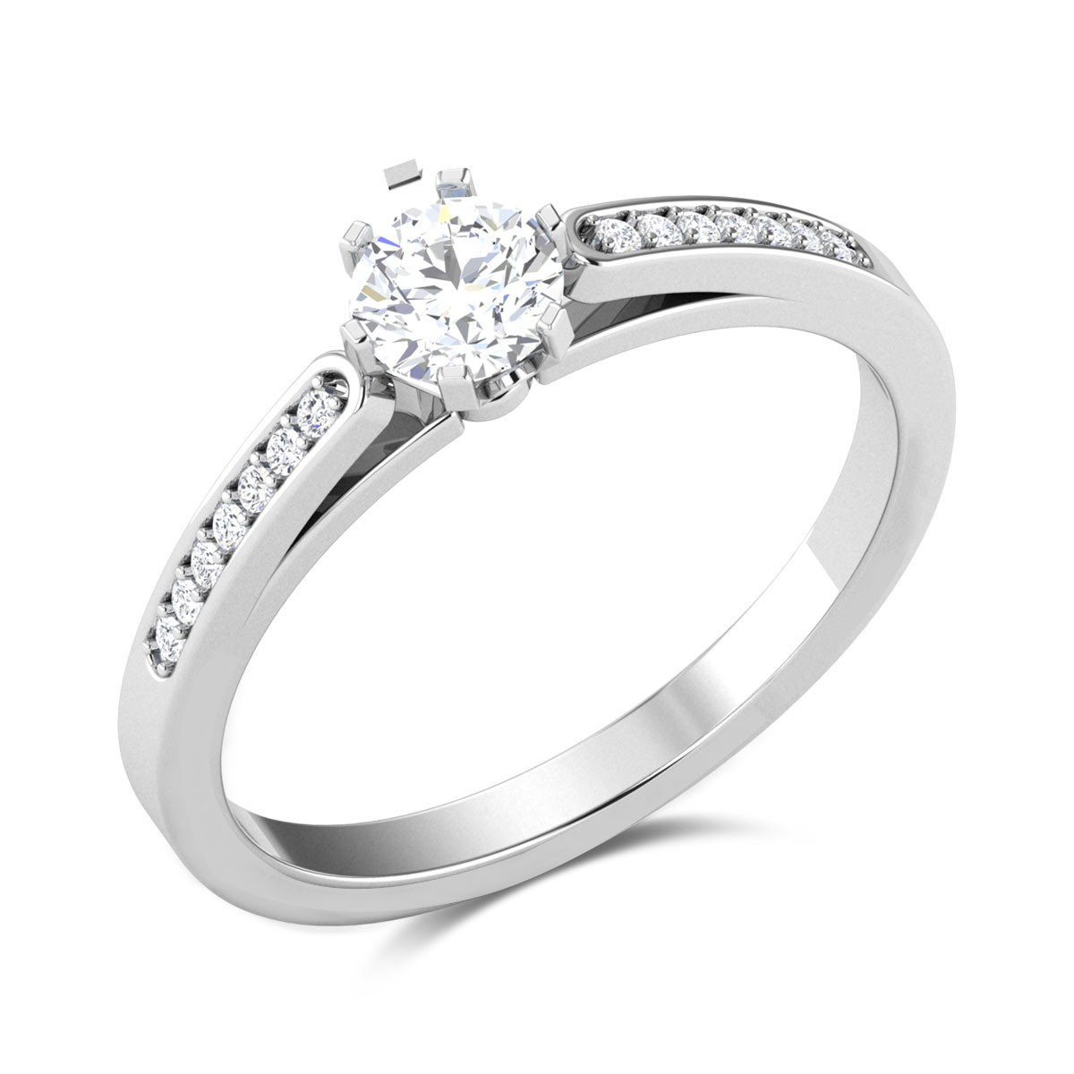 Rainbow Wrap 6 Prong Solitaire Ring