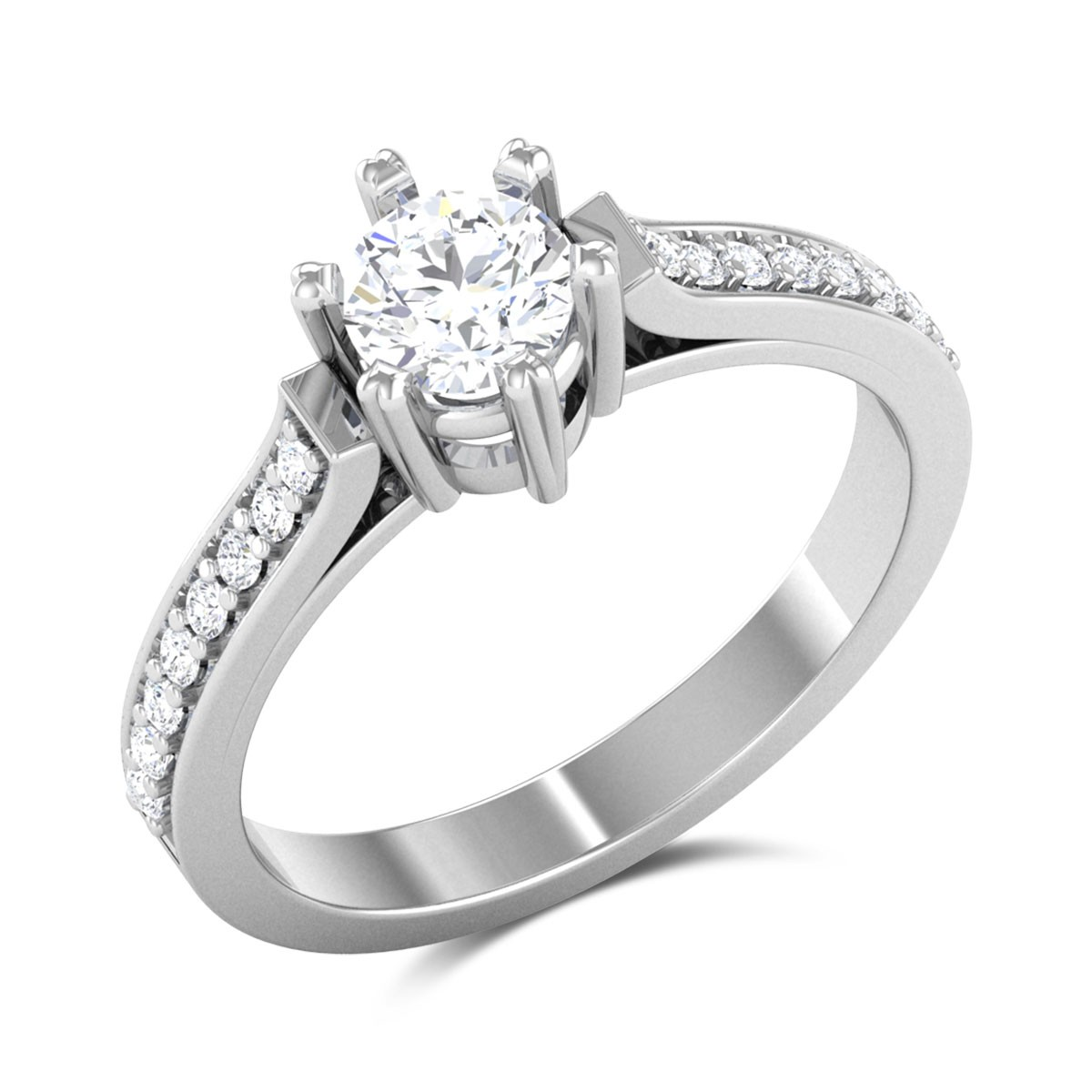 Double Delight 6 Prong Solitaire Ring