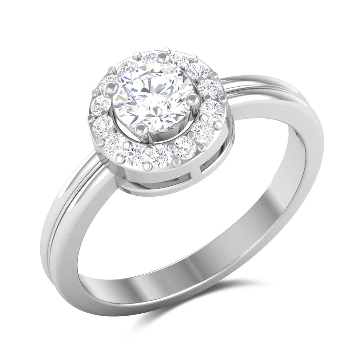 Fluguring Light Solitaire Ring