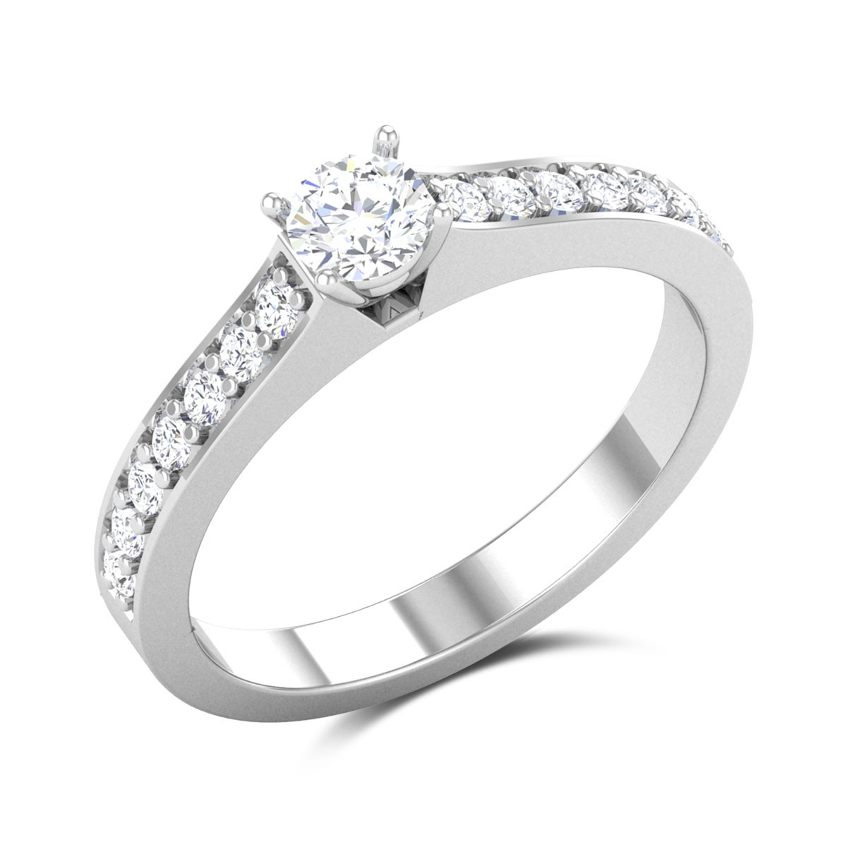 Midnight 4 Prong Solitaire Ring