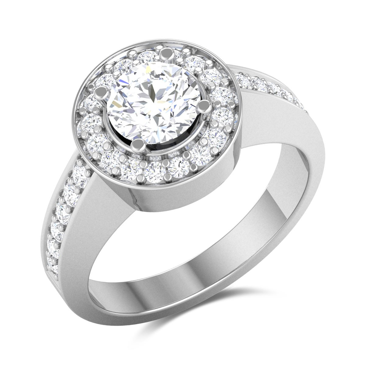 Cerulean Sky Solitaire Ring