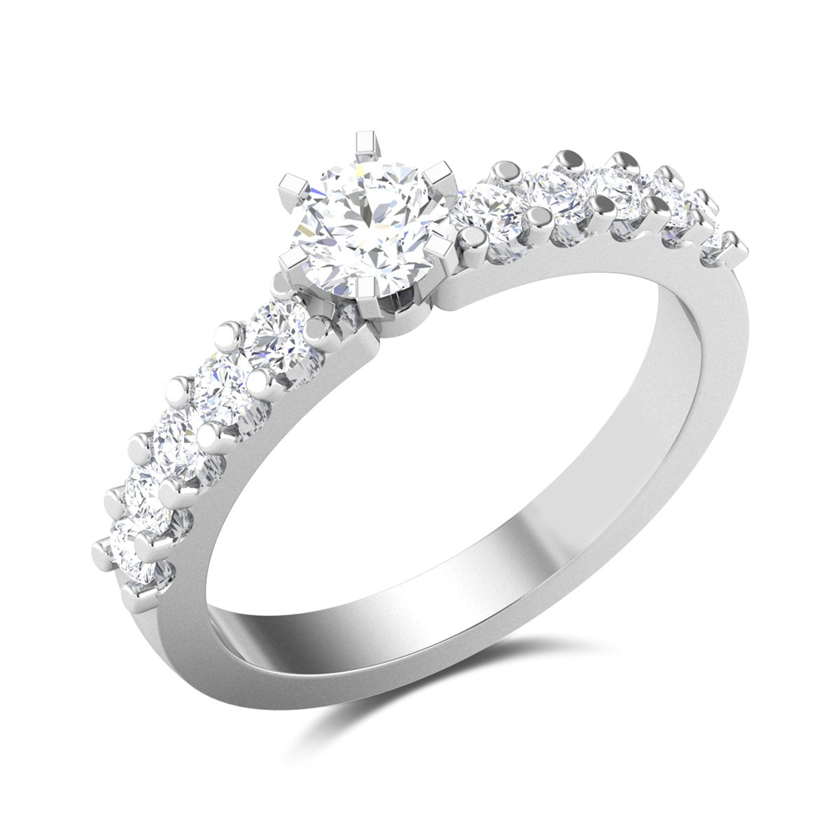 Bhadrika 6 Prong Solitaire Ring