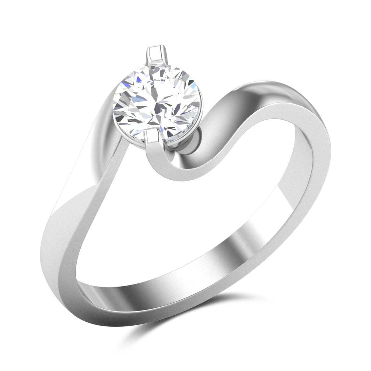 Bidisha 2 Prong Solitaire Ring