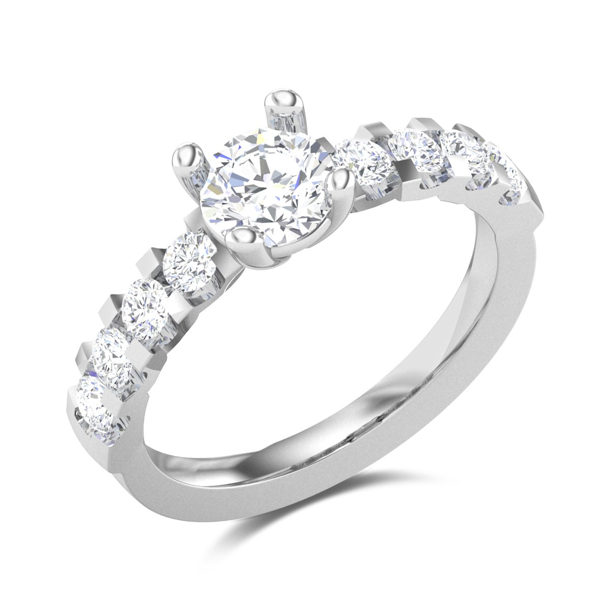 Chaaru 4 Prong Solitaire Ring