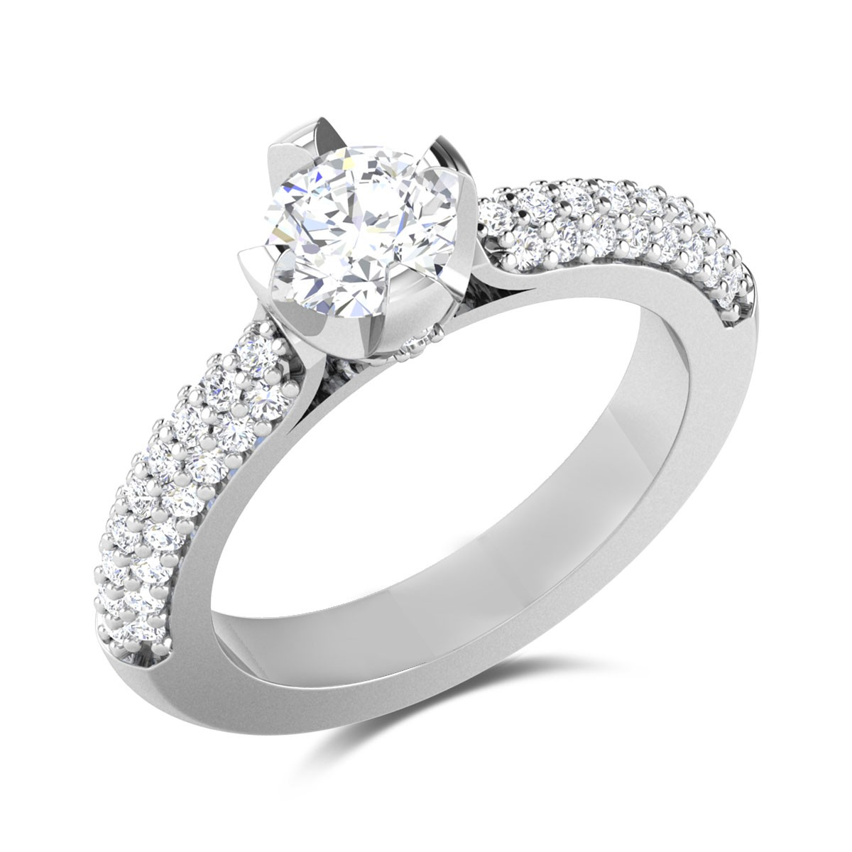 Chahan 4 Prong Solitaire Ring