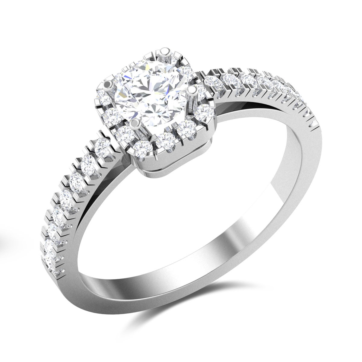 Sparkling Signature Solitaire Ring
