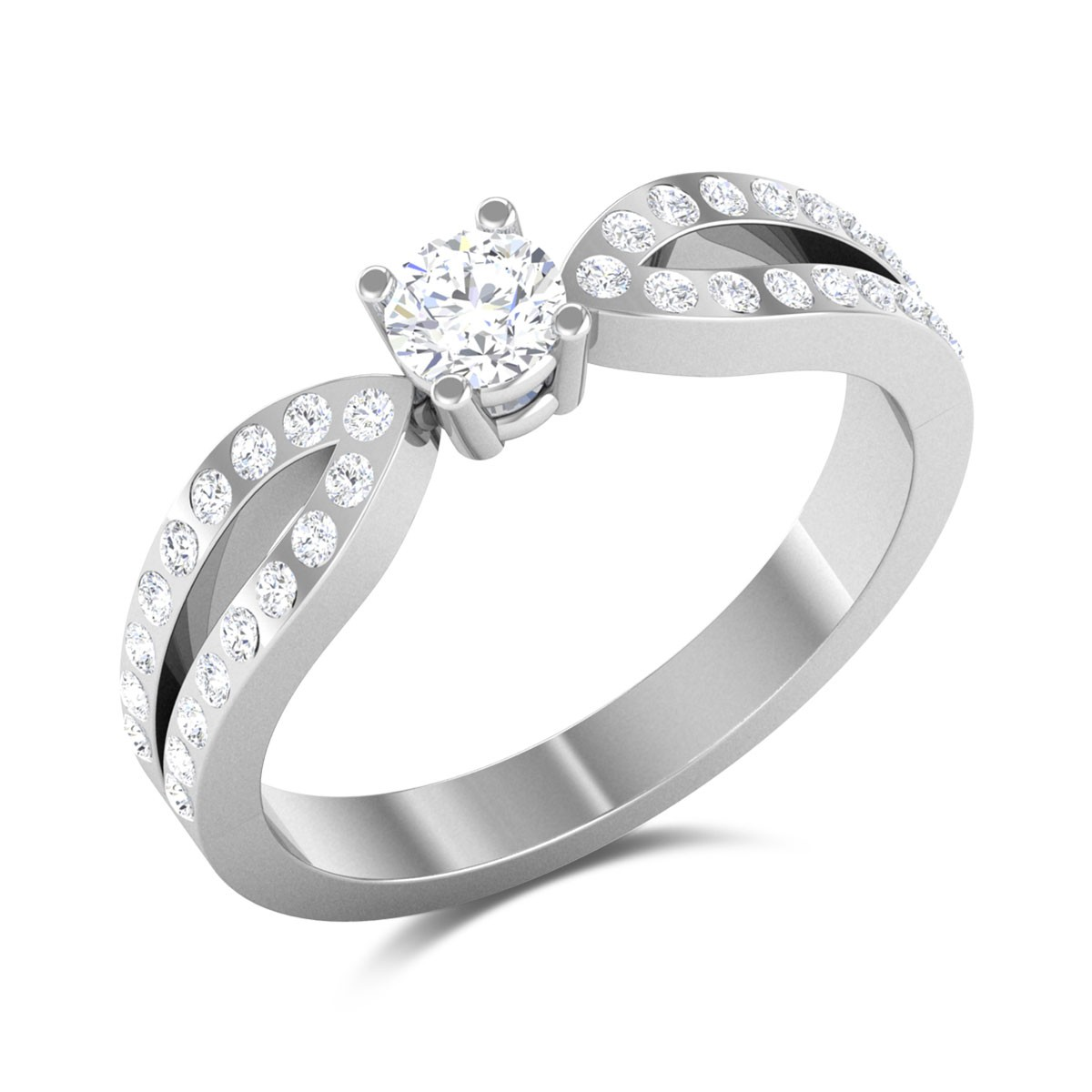 Bow Prong Set Solitaire Ring