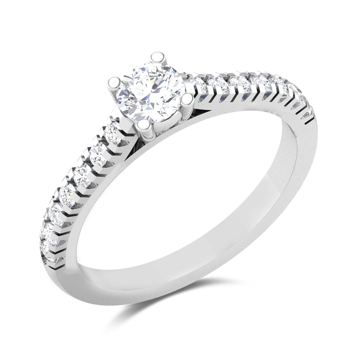 Elegant Prong Set Solitaire Ring