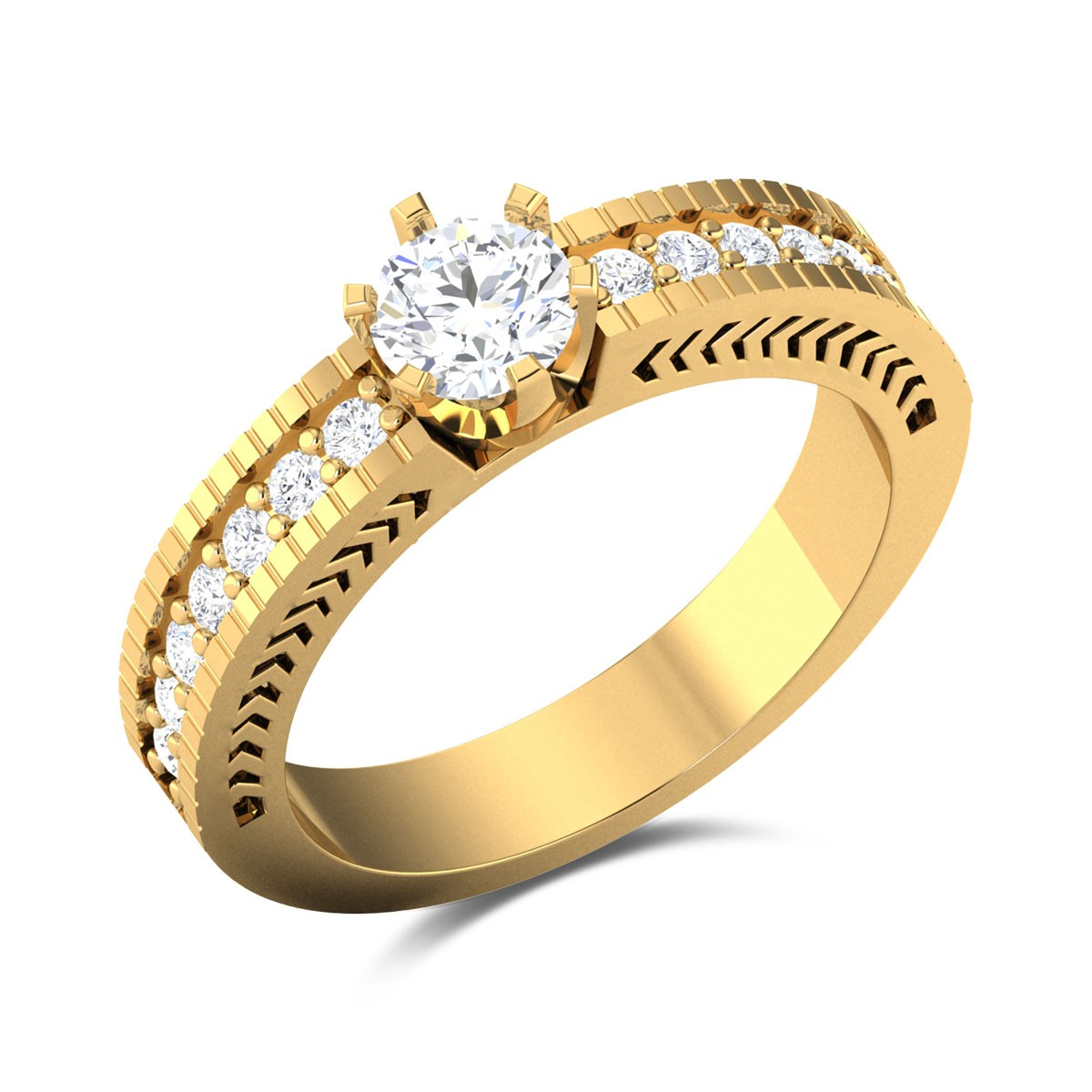 Charuhas 6 Prong Solitaire Ring