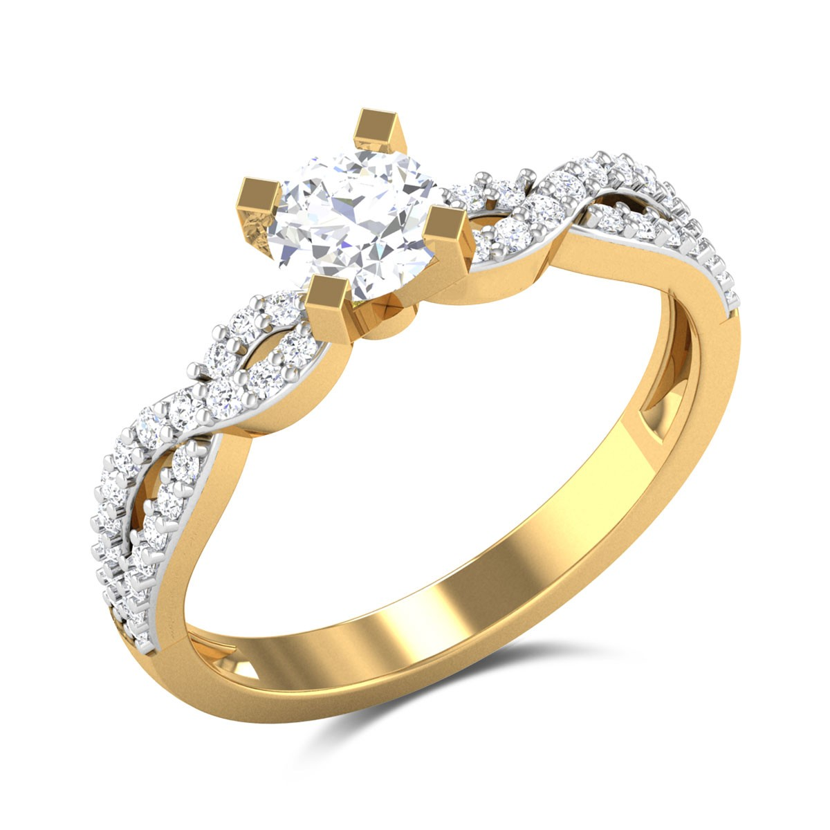 Dancing Flash Solitaire Ring