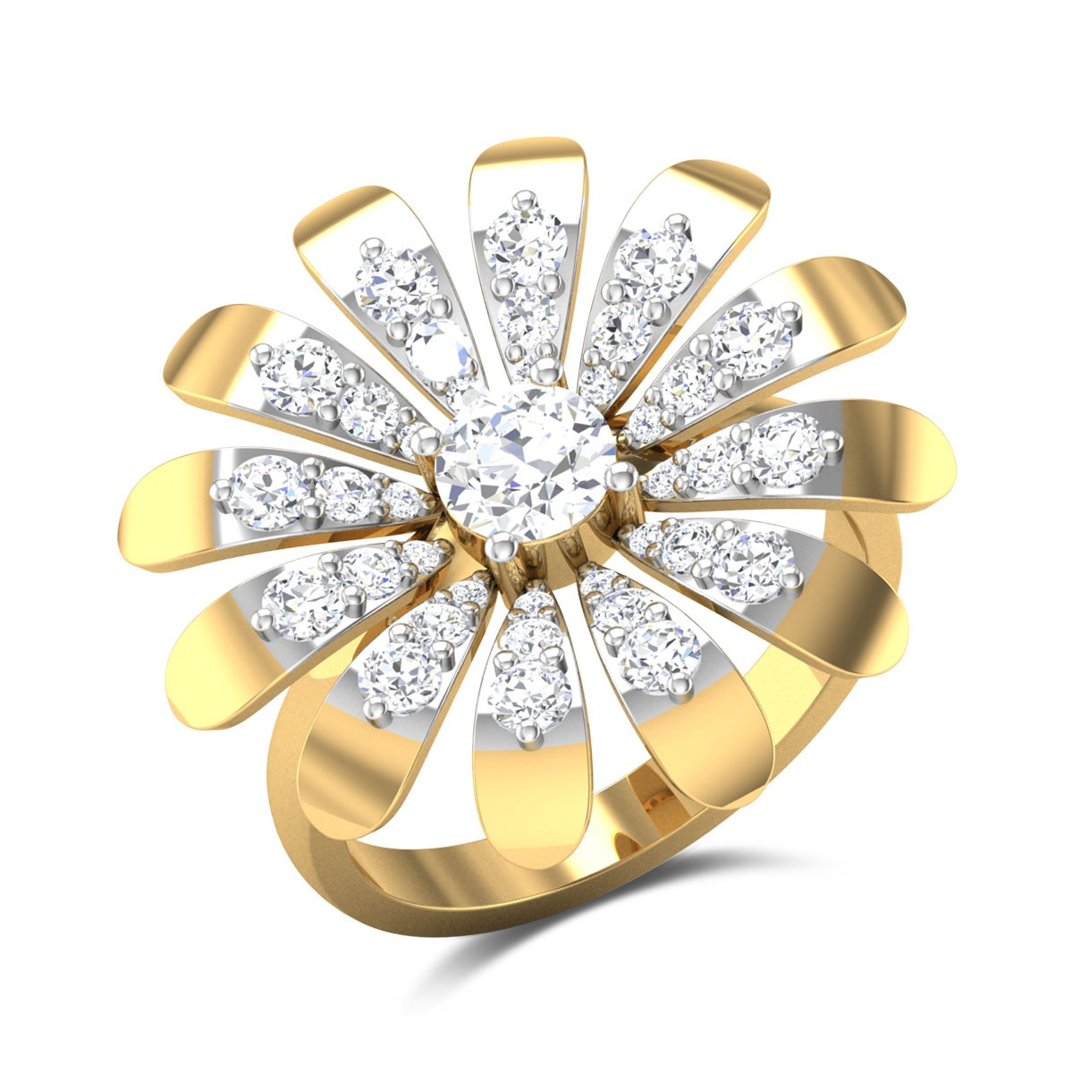 Chandalini Floral Solitaire Ring