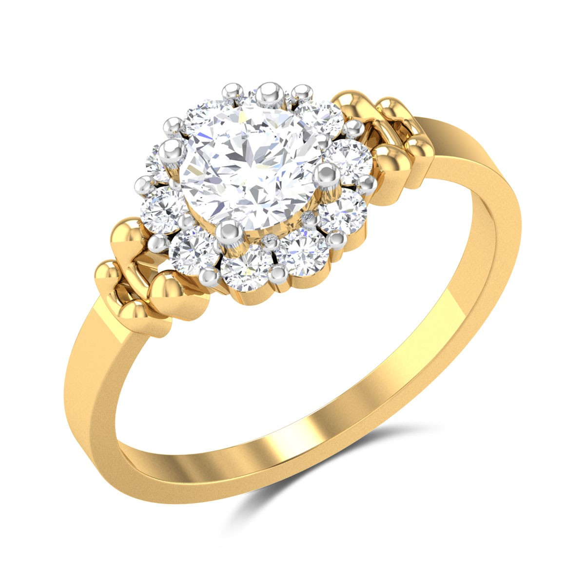 Enoch Floral Solitaire Ring
