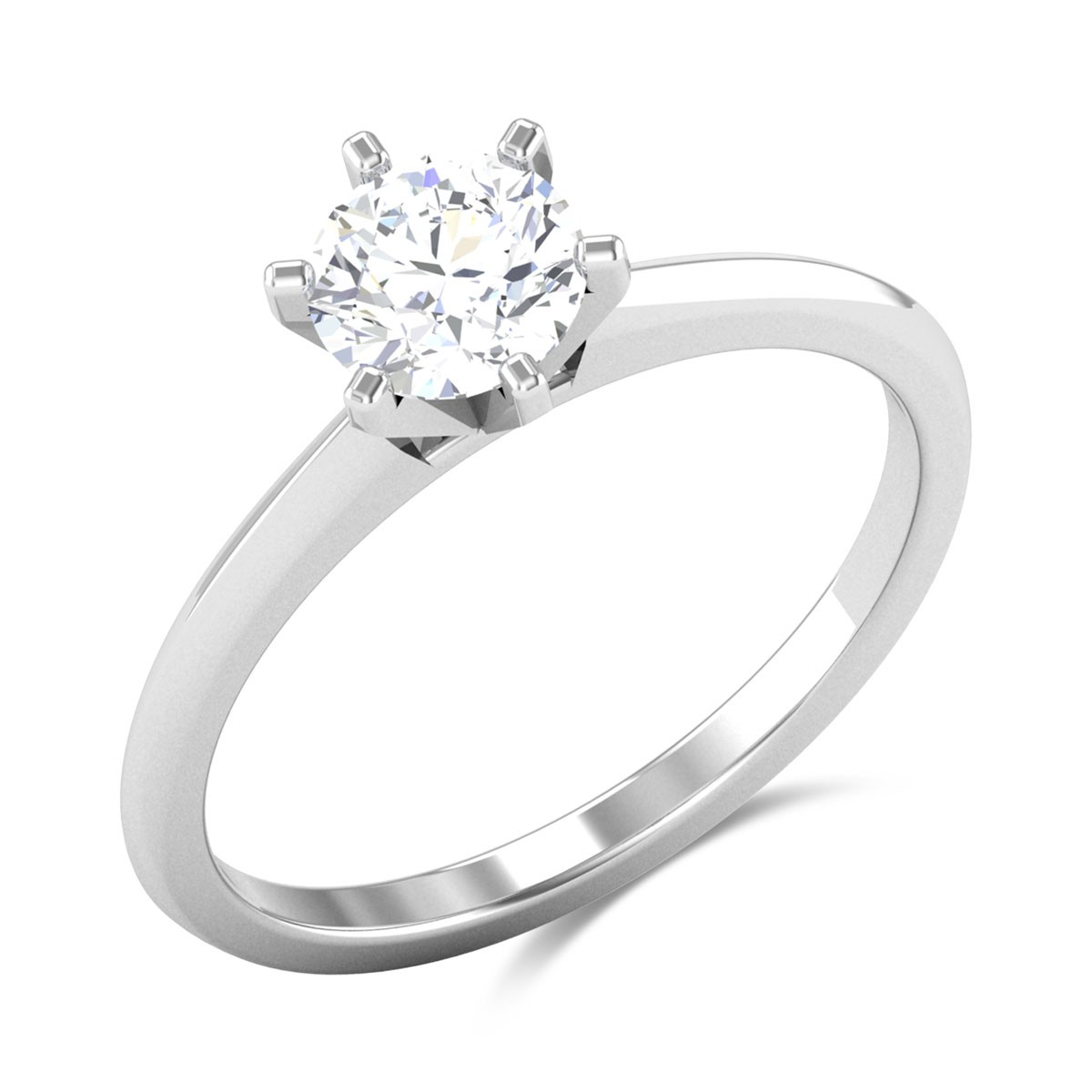 Berdine 6 Prong Solitaire Ring
