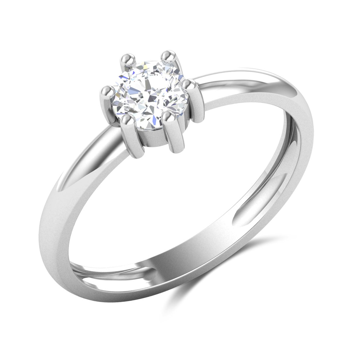 Alastair 6 Prong Solitaire Ring