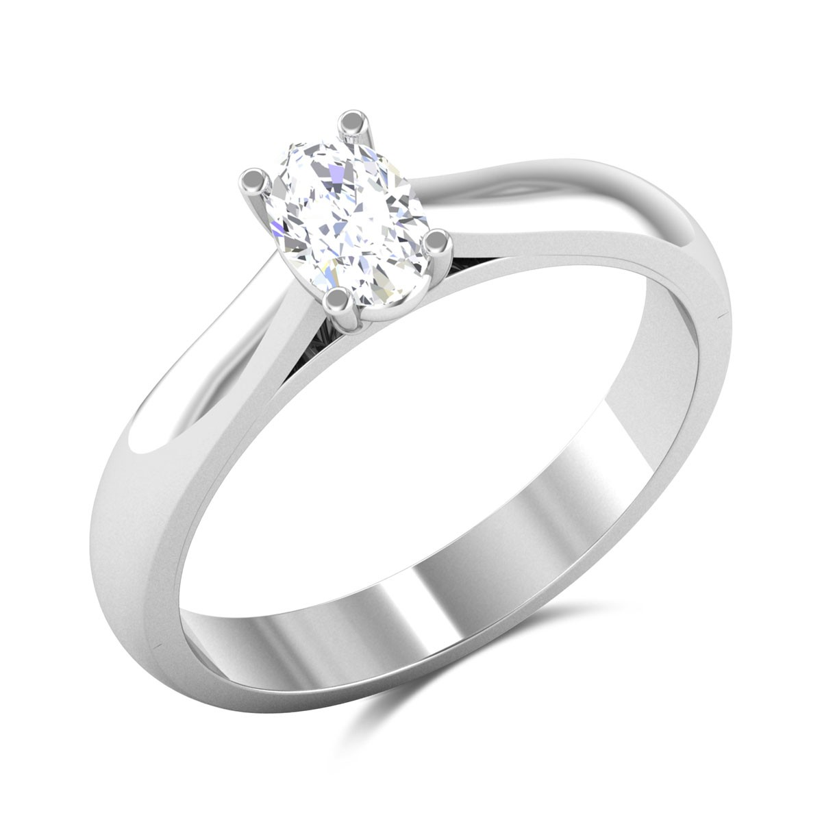 Reza Oval Cut Solitaire Ring