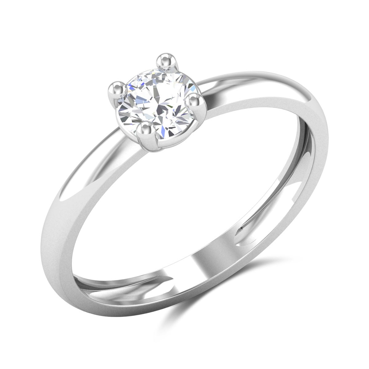 Alaia 4 Prong Solitaire Ring