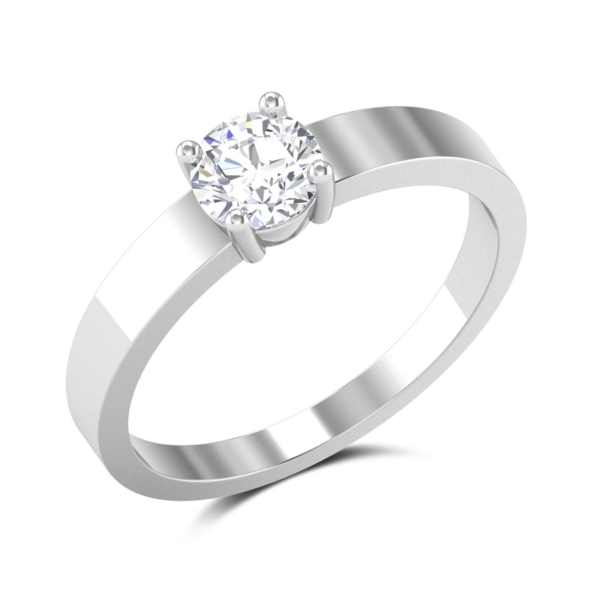 Tiberius 4 Prong Solitaire Ring