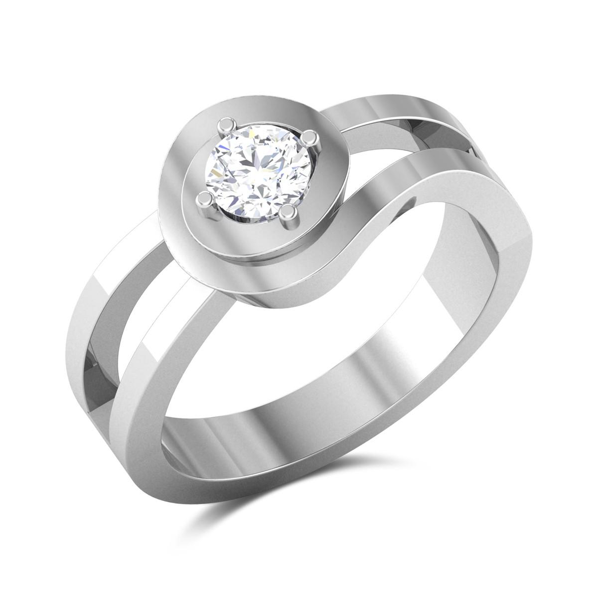 Stellan Split Band Solitaire Ring