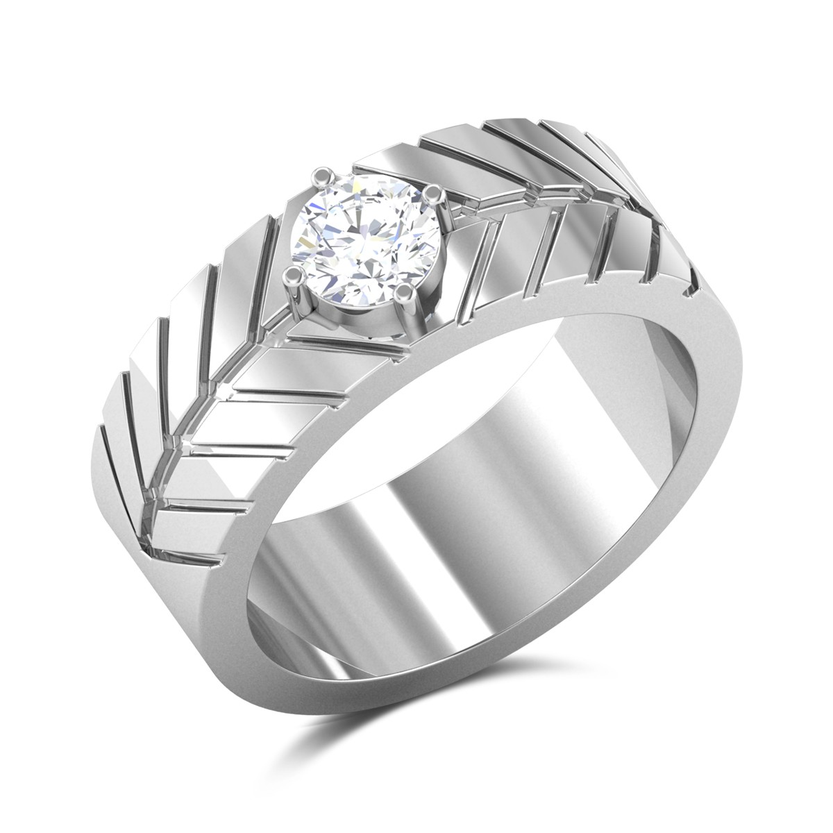 Serge Solitaire Ring