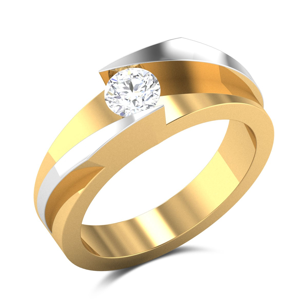 Romulus Two Tone Solitaire Ring