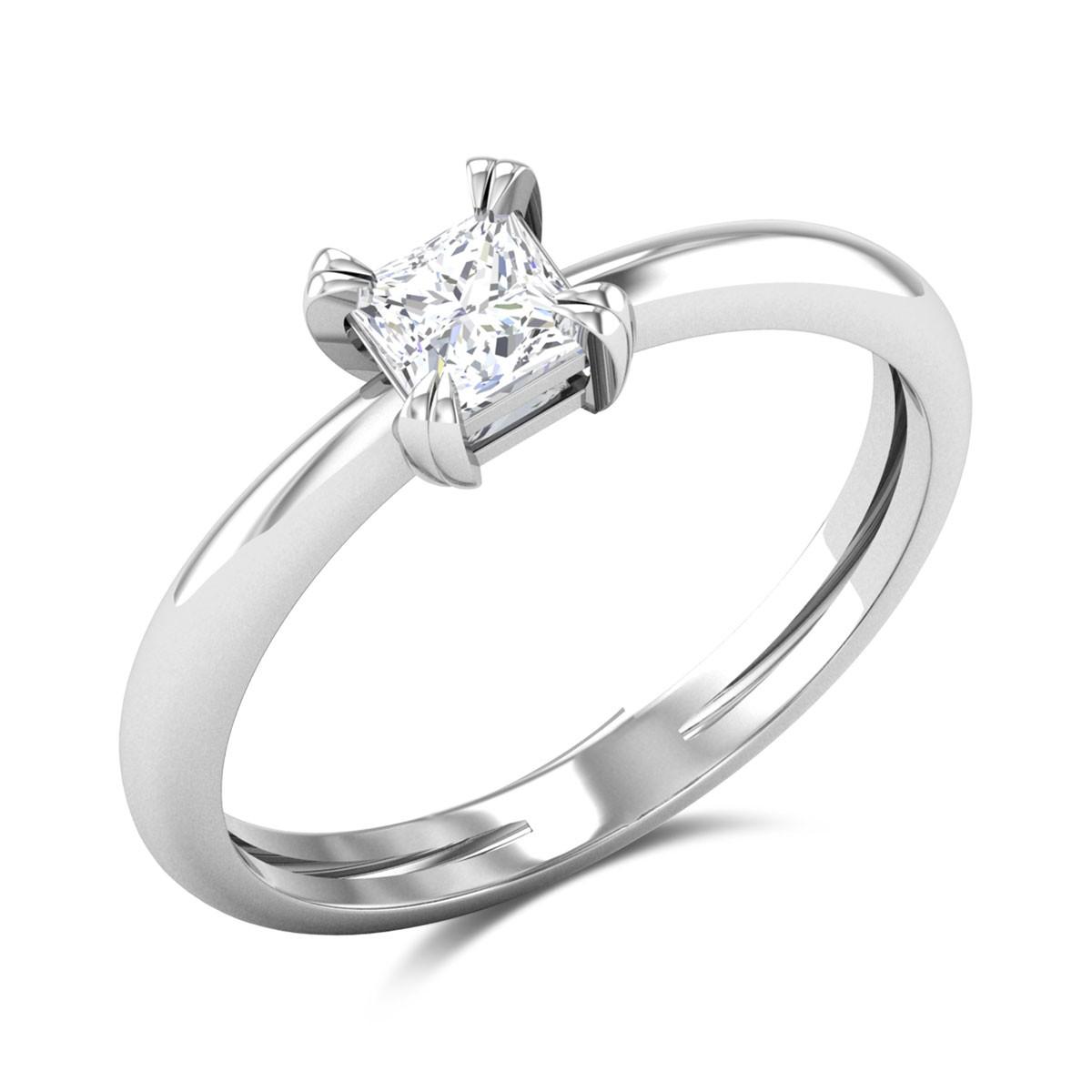 Ozias Princess Cut Solitaire Ring