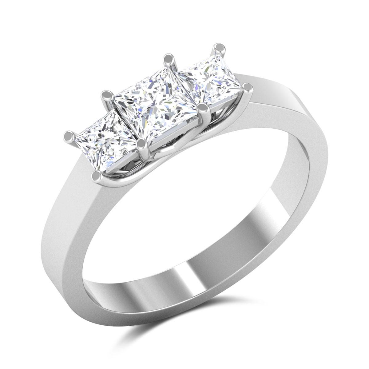 Jago Princess Cut Solitaire Ring