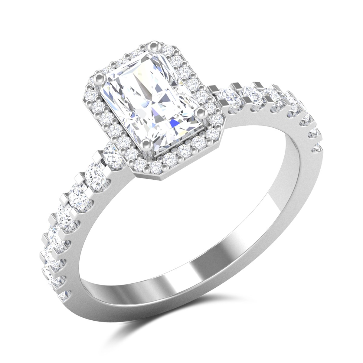 Inigo Vivid Radiant Cut Solitaire Ring