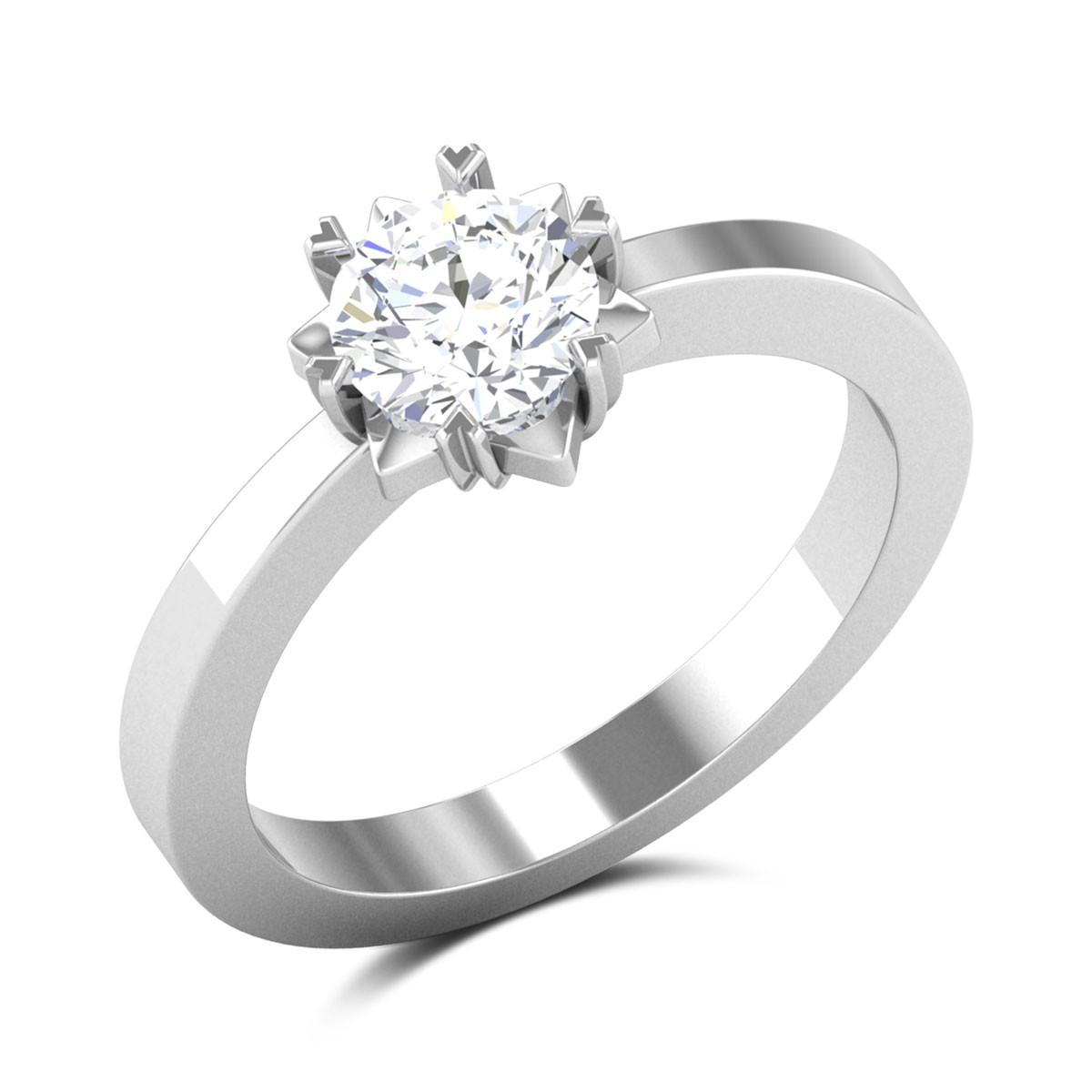 Lemuel Star Solitaire Ring