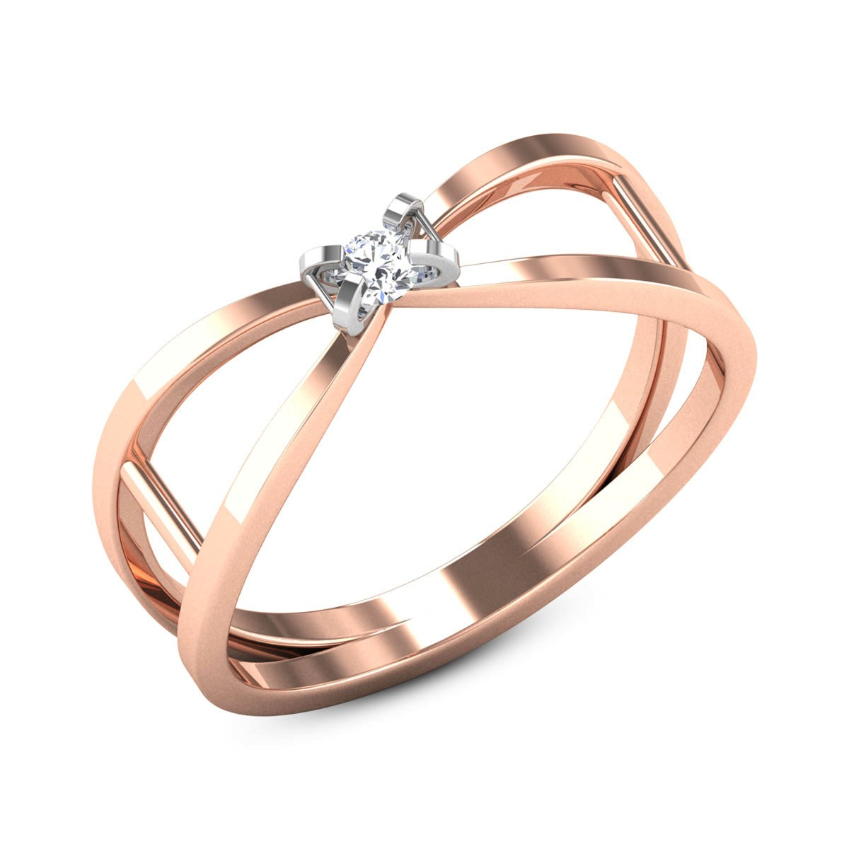 Aabha Solitaire wide Ring