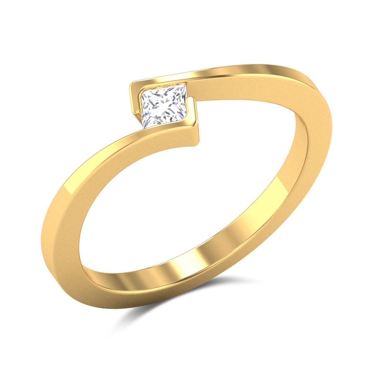 Gittel Princess Cut Solitaire Ring