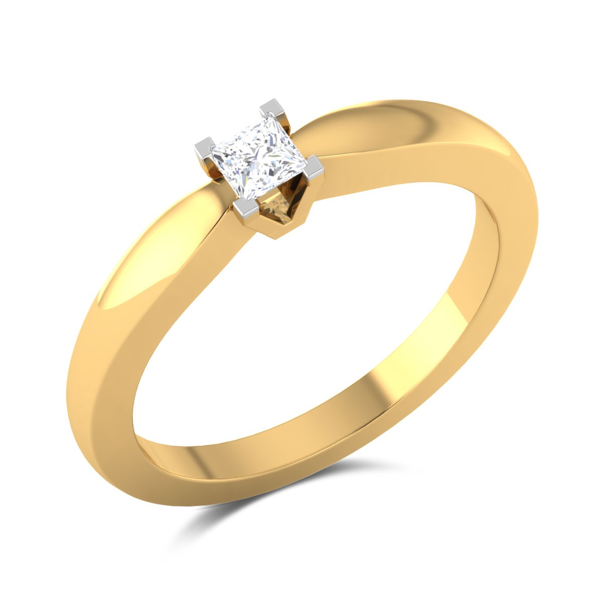 Golda Princess Cut Solitaire Ring