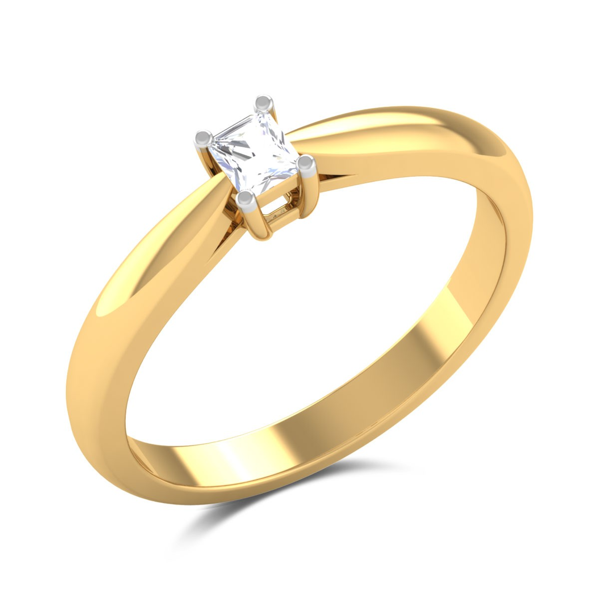 Gisela Radiant Cut Solitaire Ring
