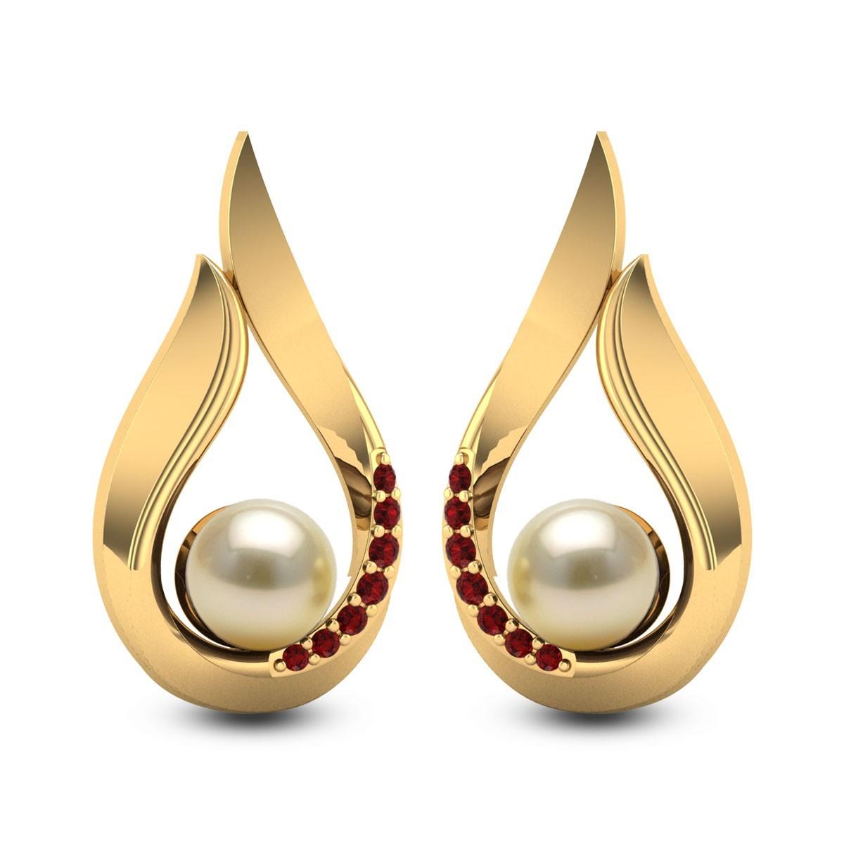 Holy Cream Pearl Stud Earrings