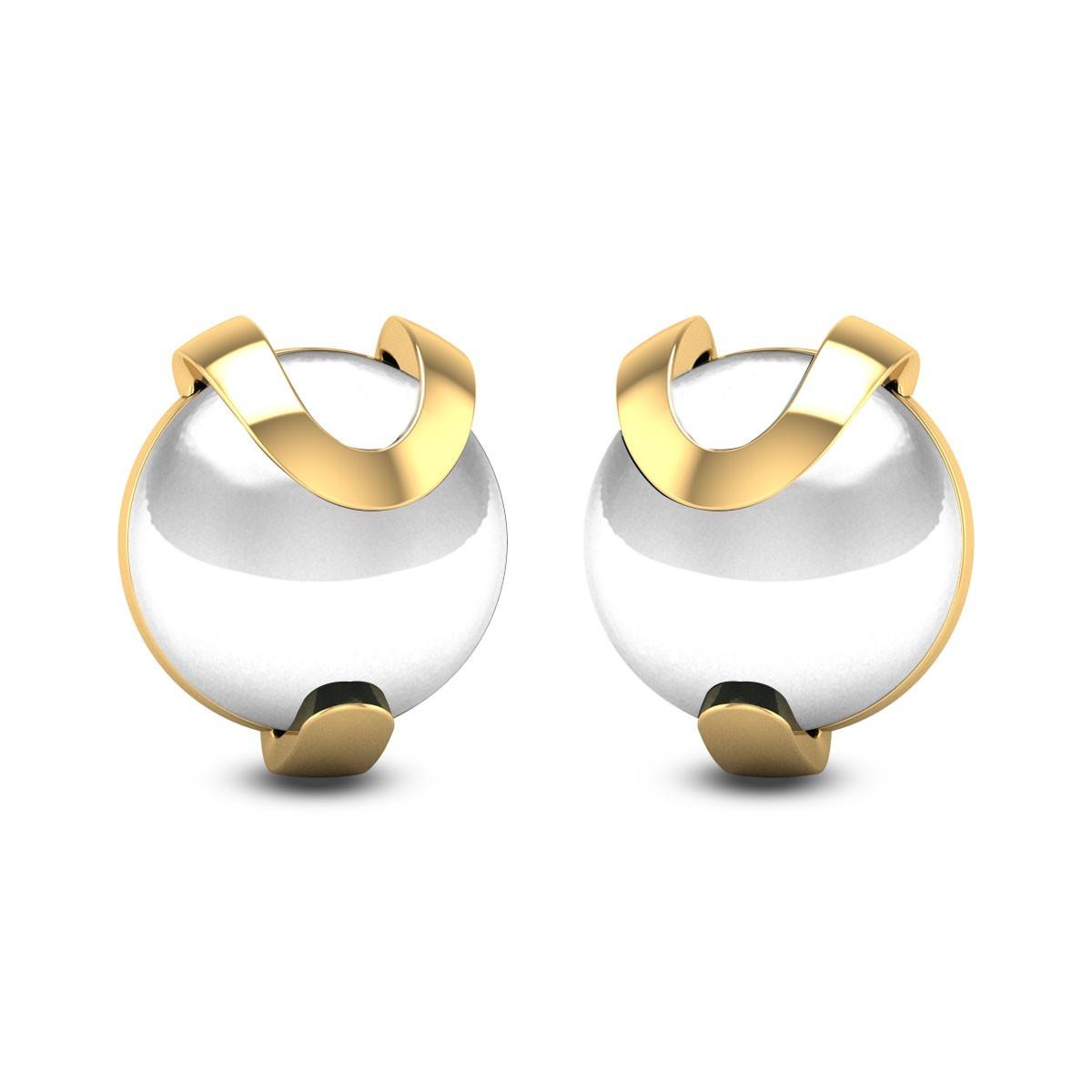 Shinning white Pearl Stud Earrings