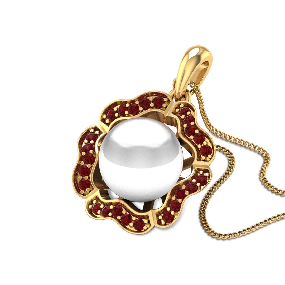 Hestia Ruby Pearl Pendant
