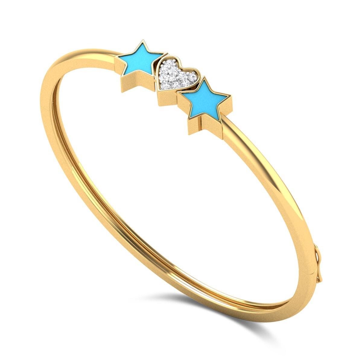 Stars & Heart Kids Diamond Bangle