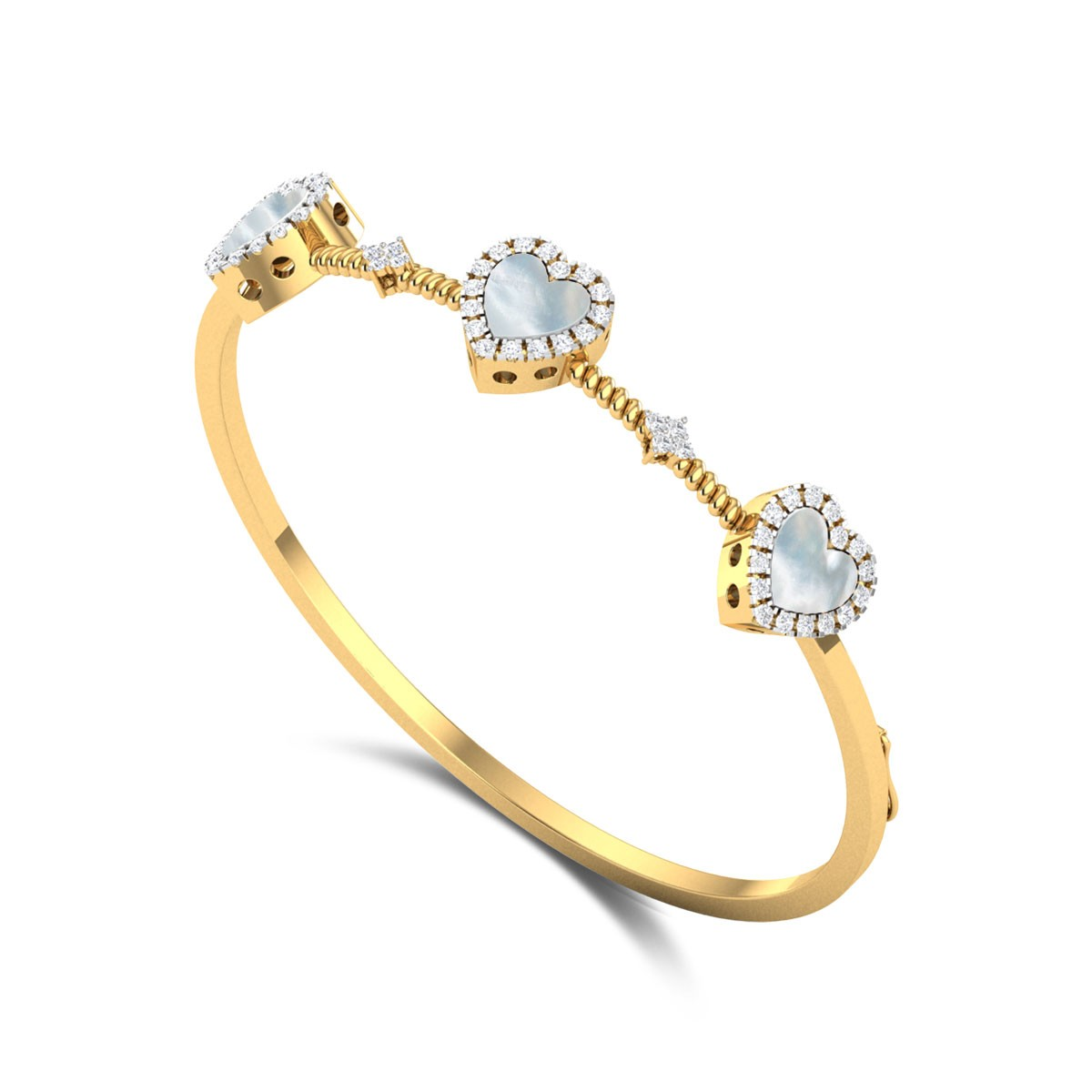 Connected Hearts Diamond Bangle