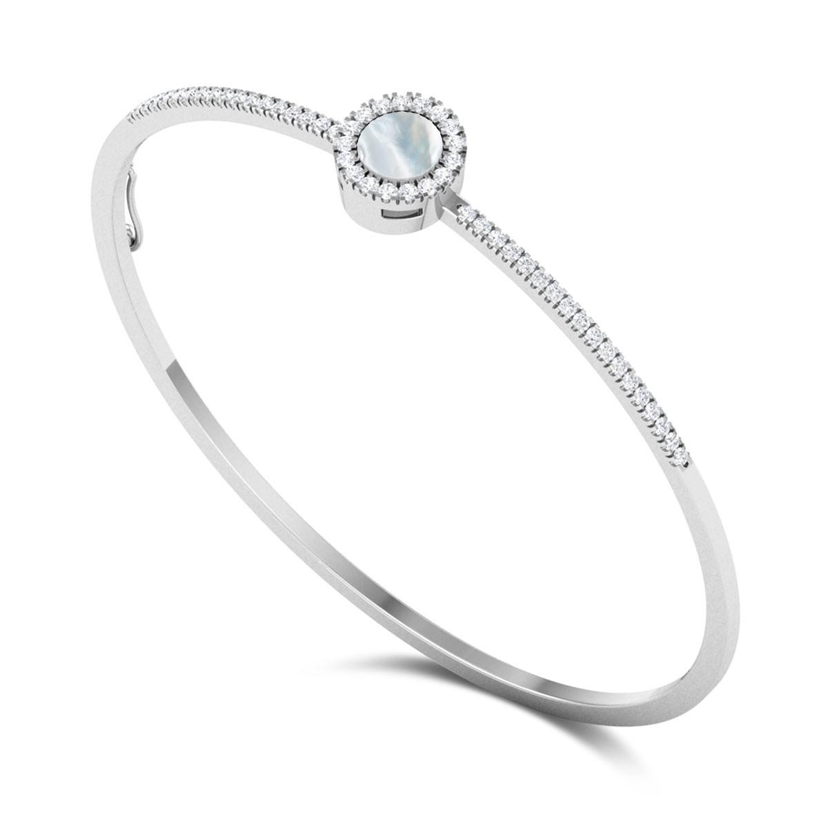 Beluxa Pearl & Diamond Bangle