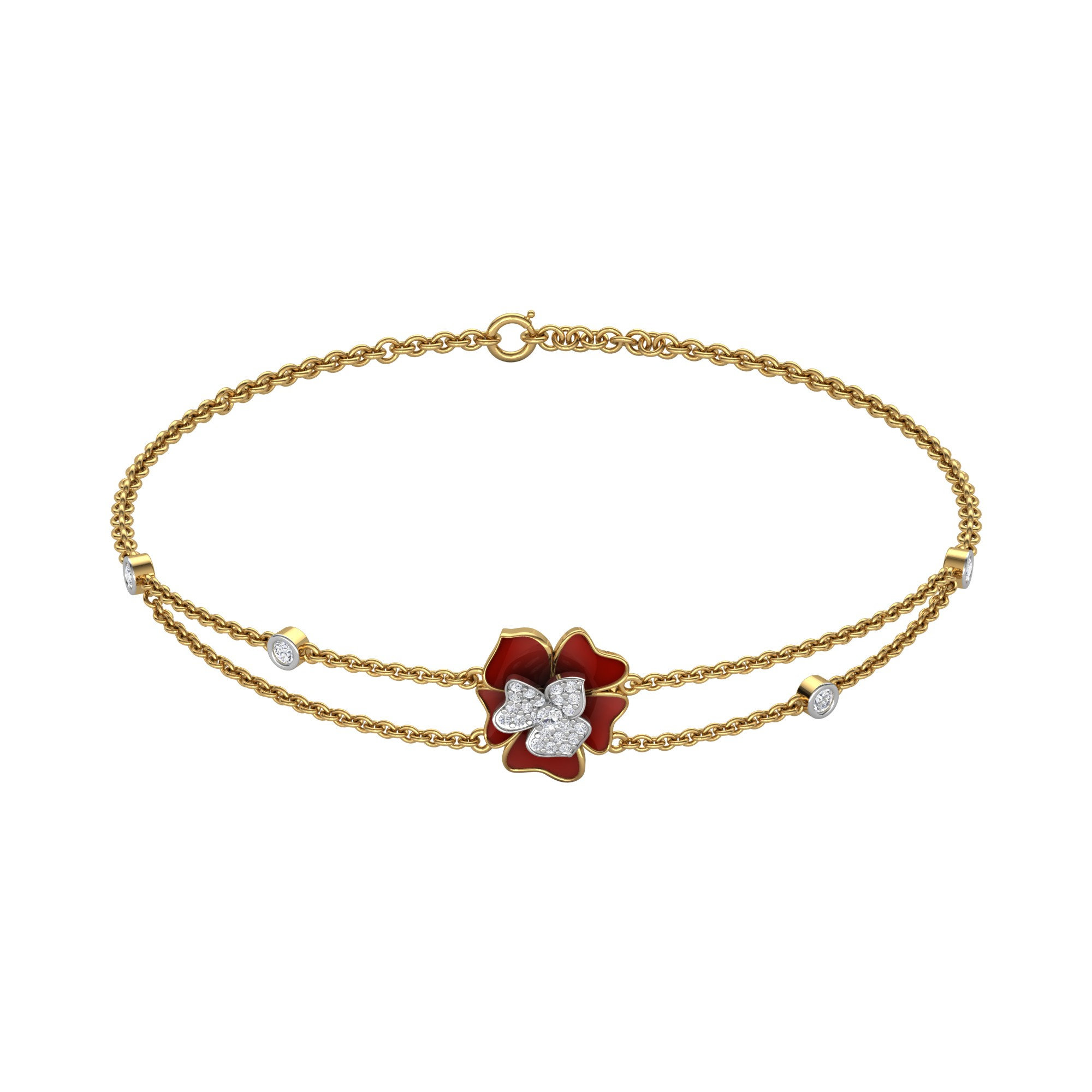 Madalyne Floral Diamond Bracelet
