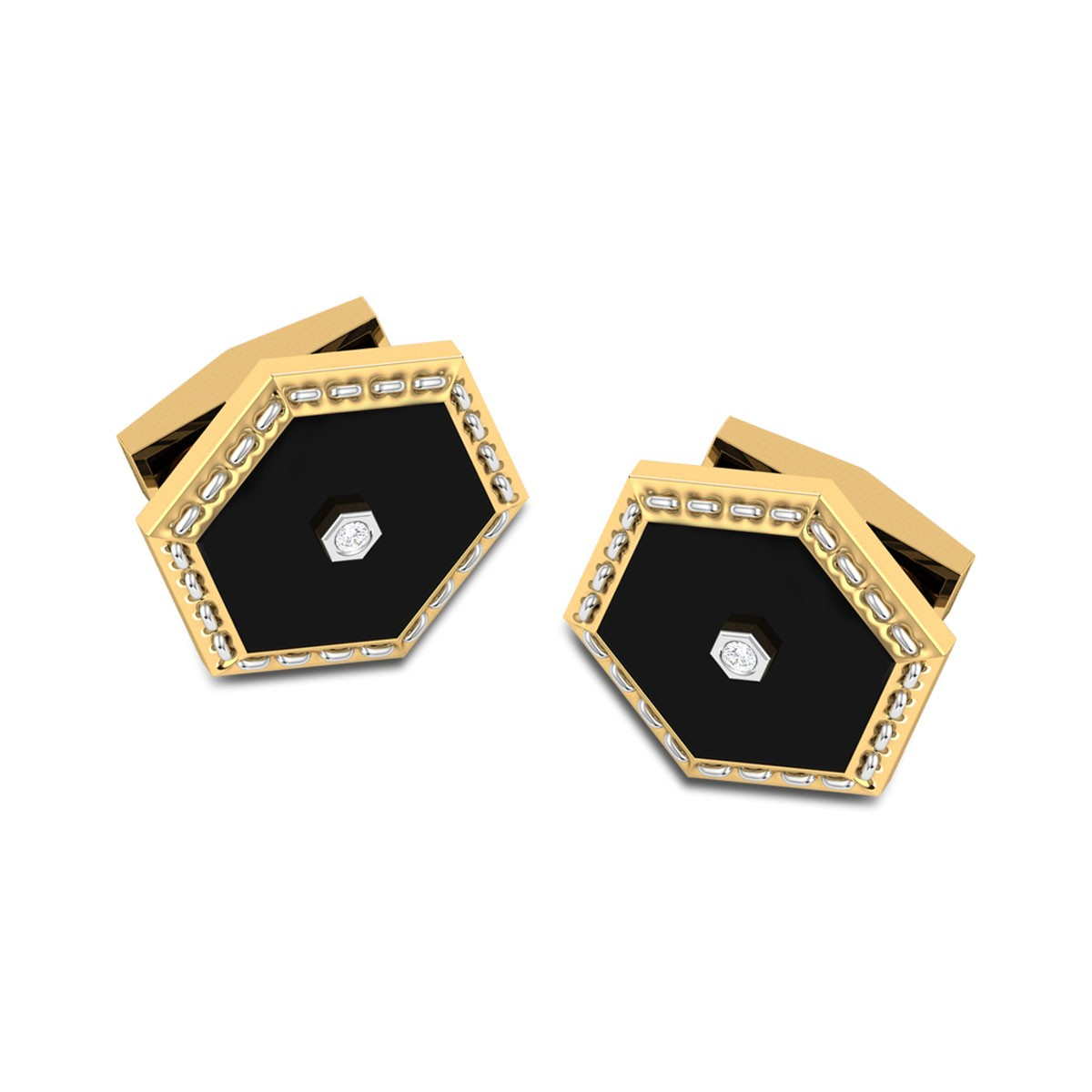 Indra Black Onyx Diamond Cufflinks
