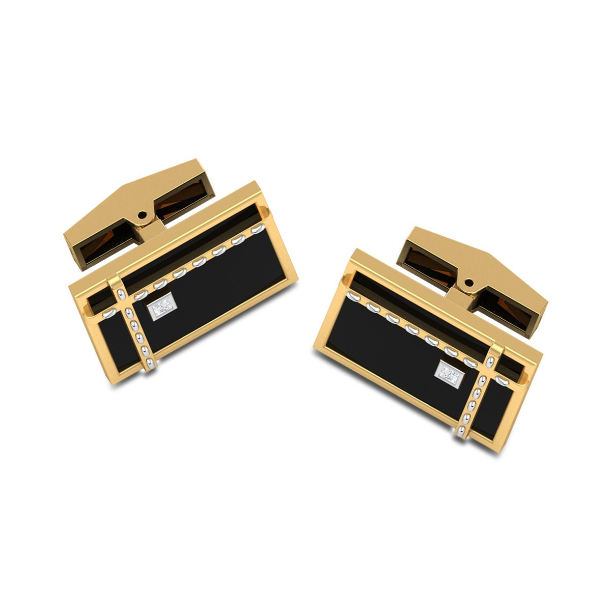 Samarth Black Onyx Diamond Cufflinks