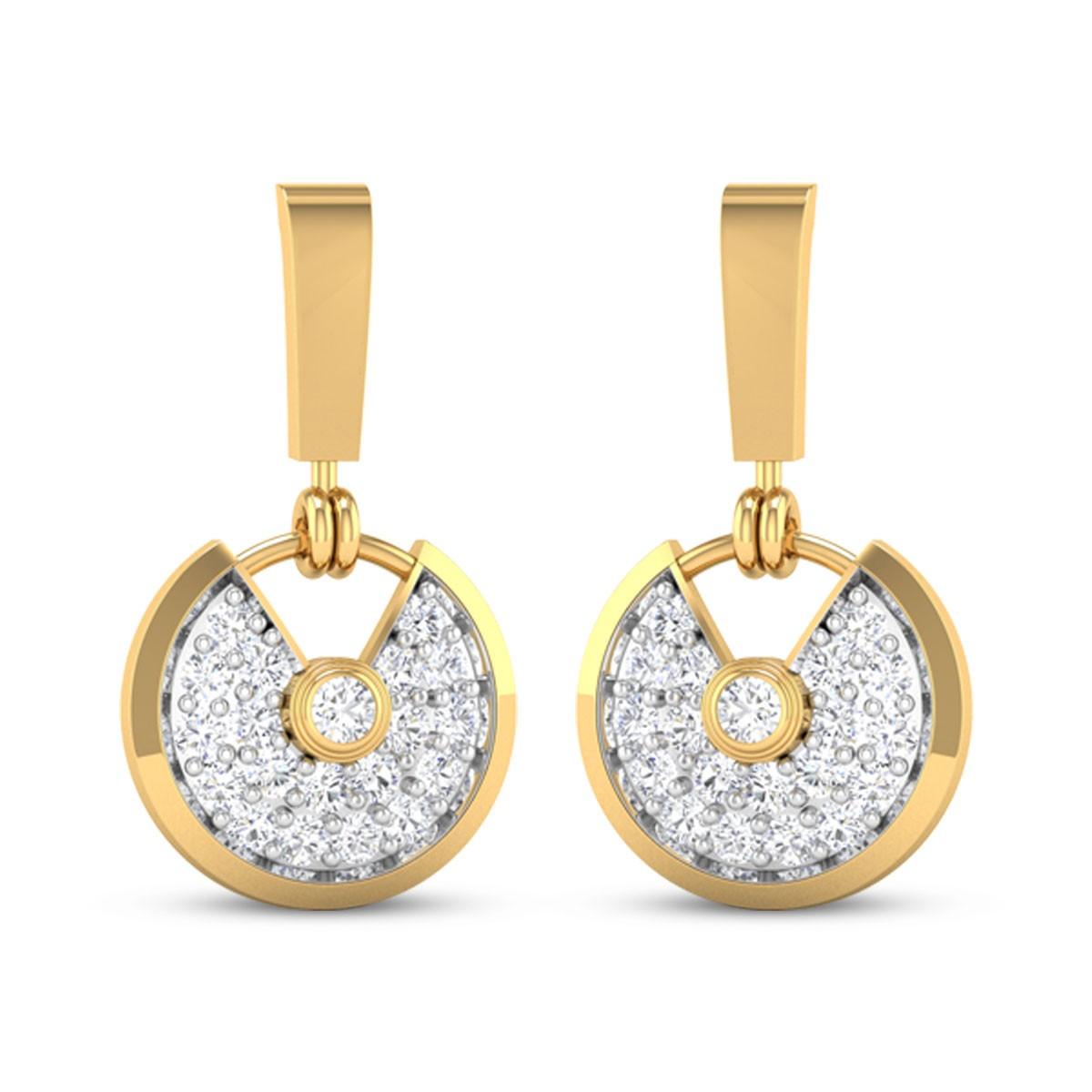 Running Clock Diamond Earrings