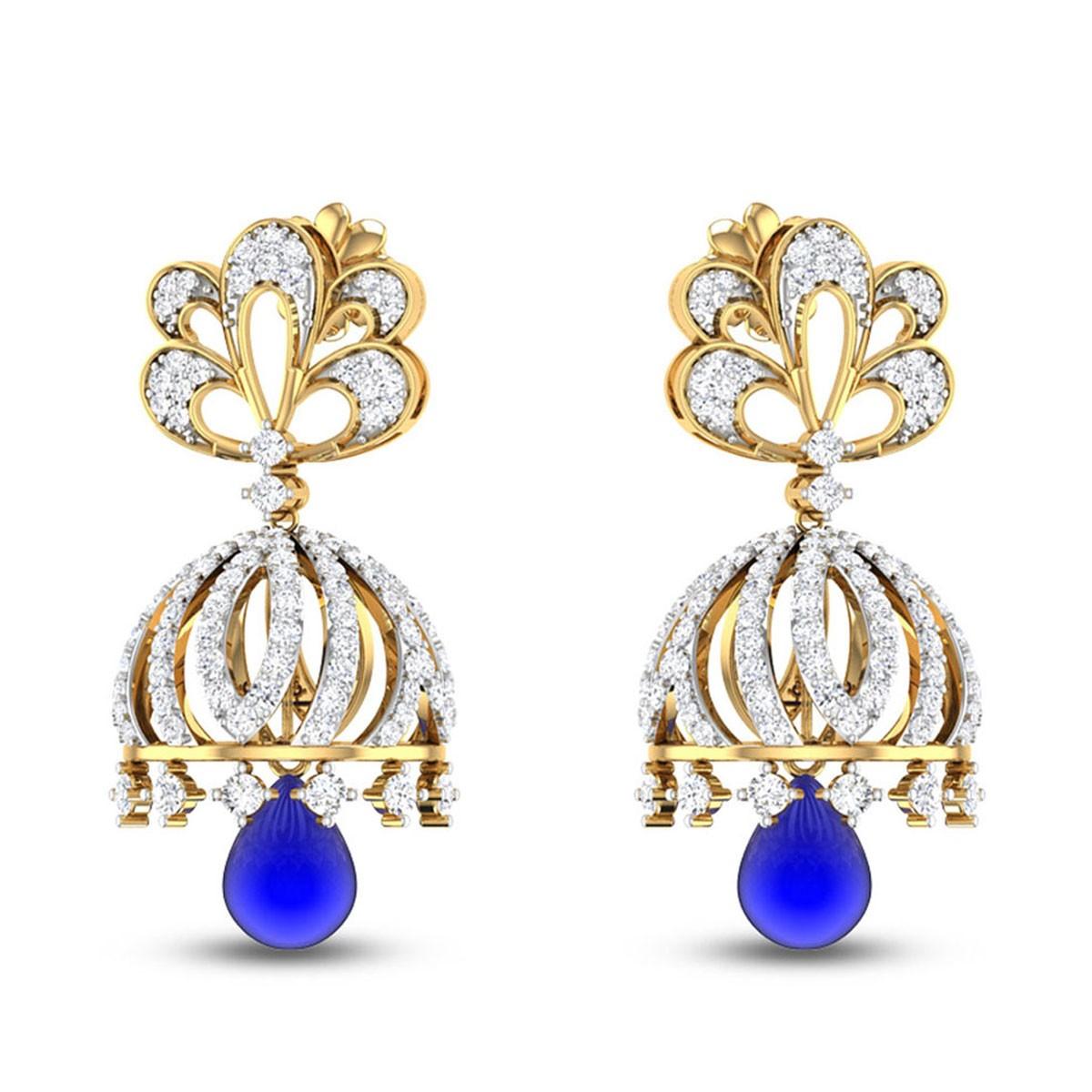 Heliotrope Diamond Earrings