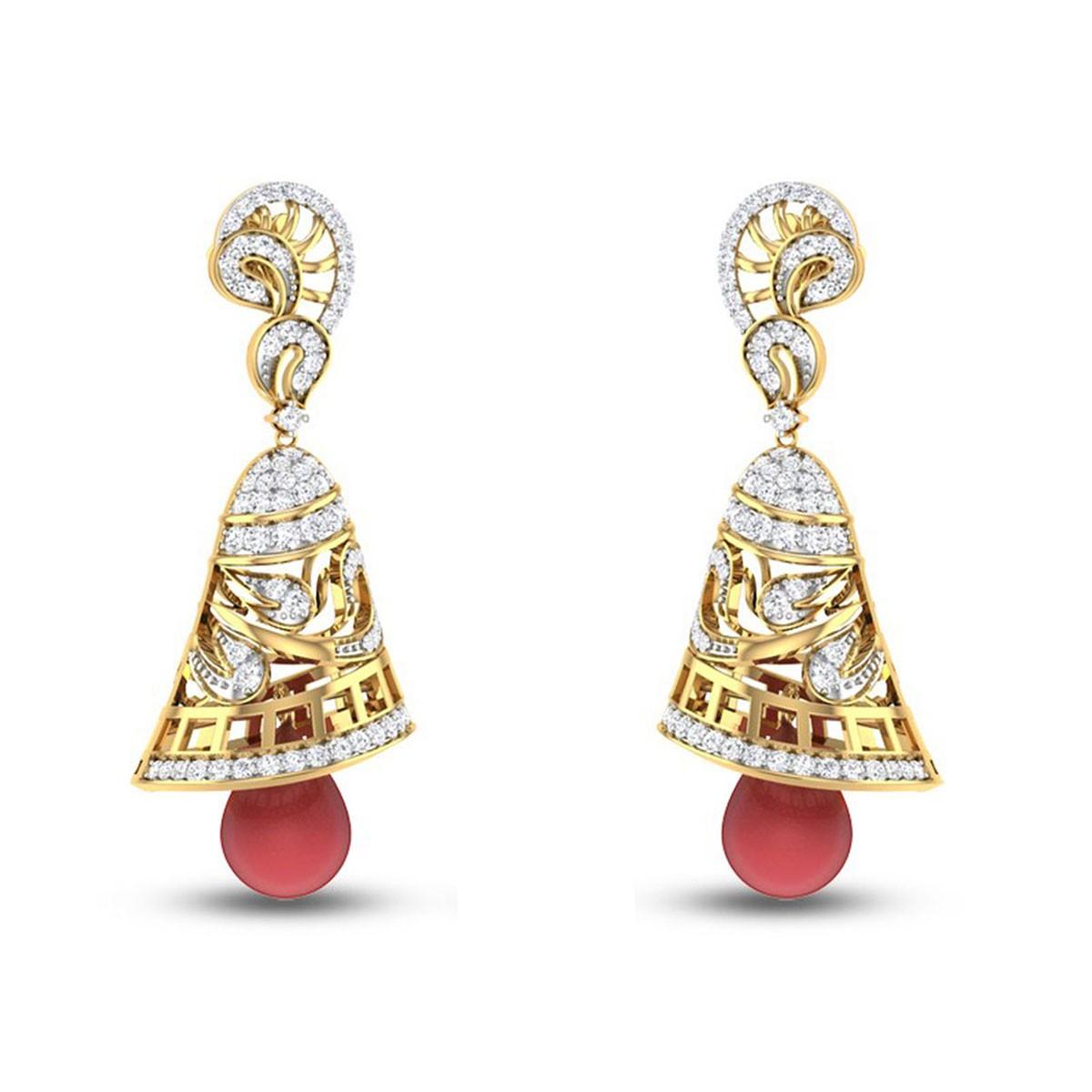 Ruby Dancing Bells Diamond Earrings