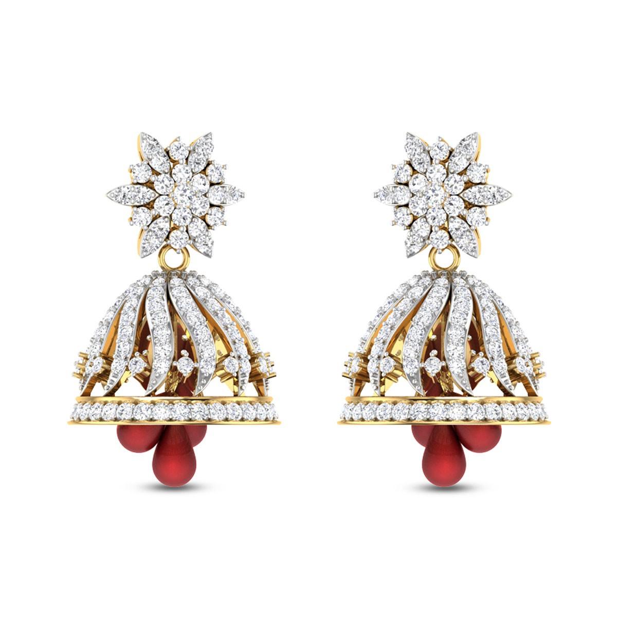 Dahlia Ruby Diamond Earrings
