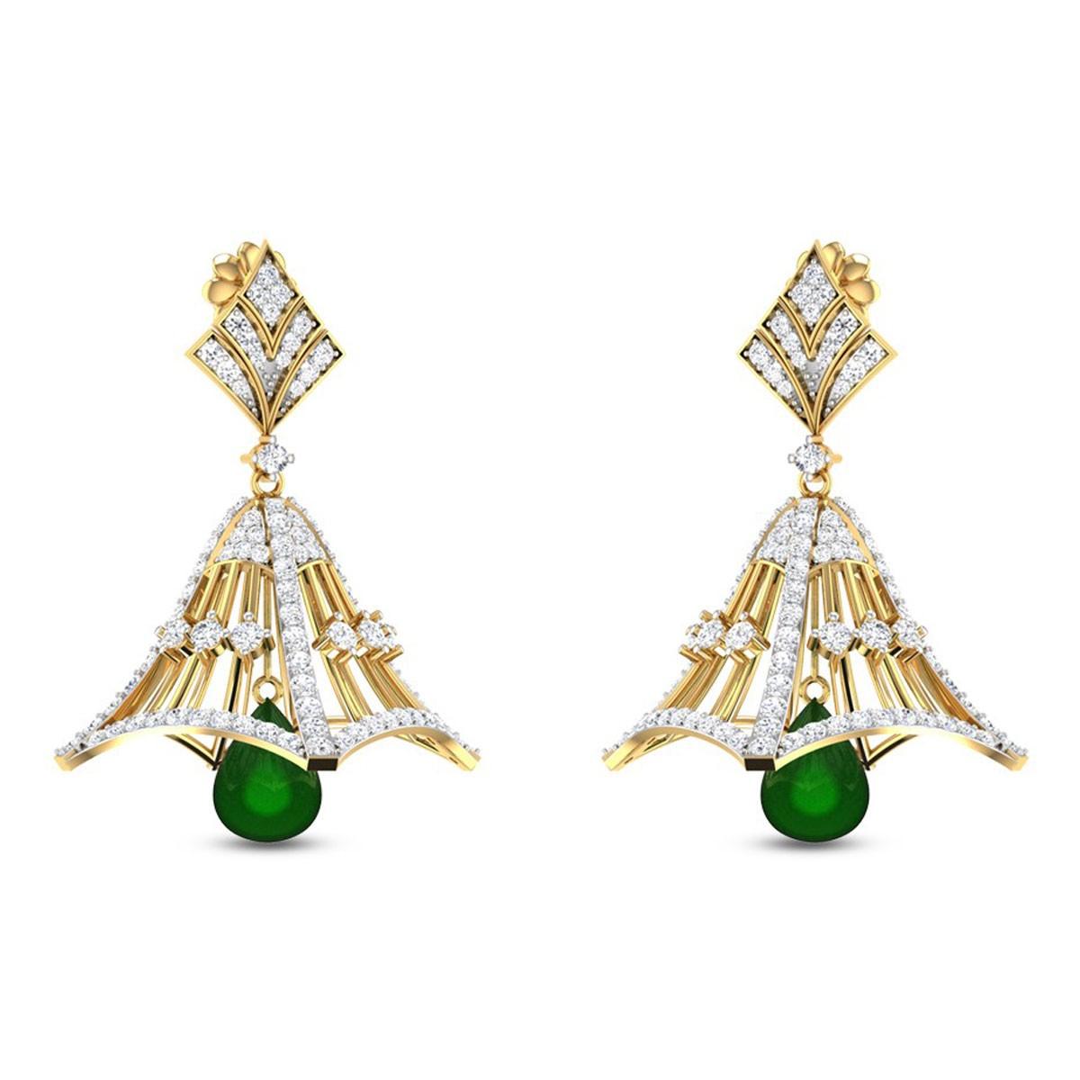 Dropping Daffodil Diamond Earrings