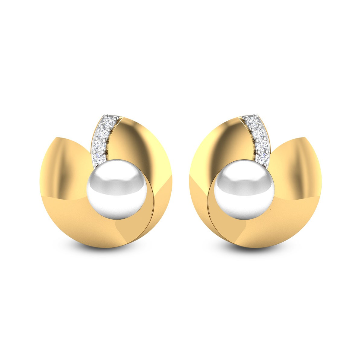 Akshobhya Diamond Stud Earrings